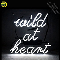 Wild At Heart Neon Sign neon bulb Sign Real Glass Tube neon lights Recreation club Pub Iconic Sign Advertise personalized lamp
