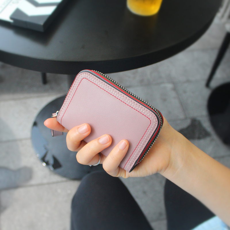 Credit Card Holder Solid Passport Holder Real Porte Carte Genuine Pickup Bag Womens Card ...