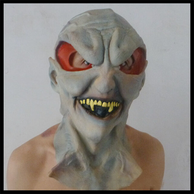 Free shipping Scary Silicone Face Mask Alien UFO Extra