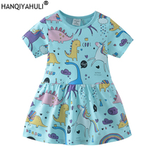 Girls Summer Dresses 2019 Animals Appliqued Girls Dress Unicorn Printed Kids Dresses for Girls Clothing Princess Costume Child girls summer dresses 2018 animals appliqued girls dress unicorn printed kids dresses for girls clothing princess costume child
