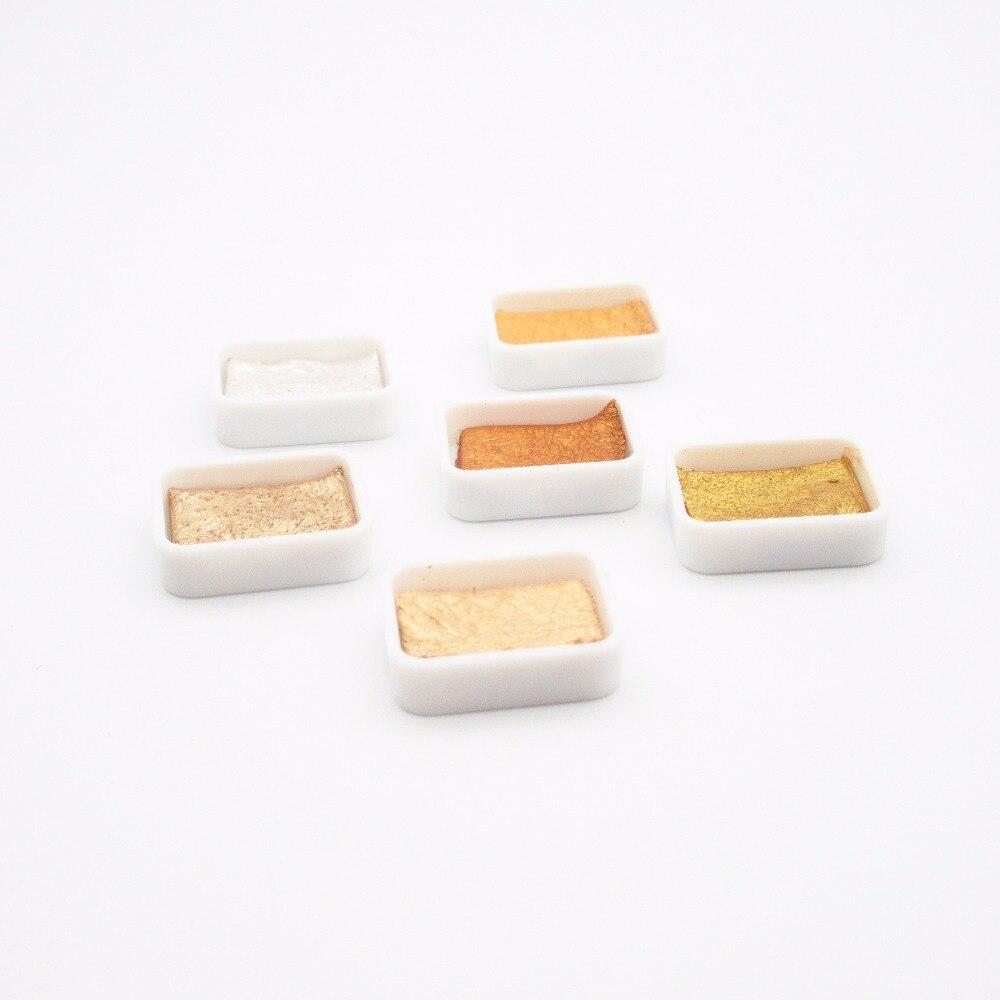 Kuretake краска GANSAI TAMBI Звездные цвета сплошная Акварельная краска мини набор оригинальная металлическая Золотая краска s Япония
