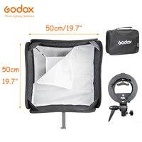 Godox Handy Speedlite Softbox Umbrella 50*50cm 19.7 with S type Bracket Bowens Mount with Bag for Pro Studio Photo Lighting