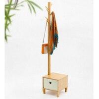 Housewares бамбука вешалки с обуви скамейке стул хранения пол вешалка дерево стиль с Османской дома мебель для спальни