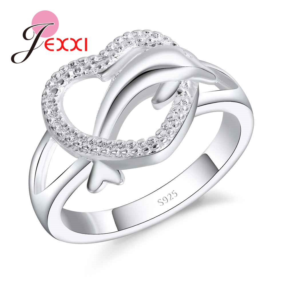 buy dolphin wedding rings and get free shipping on aliexpresscom - Dolphin Wedding Rings