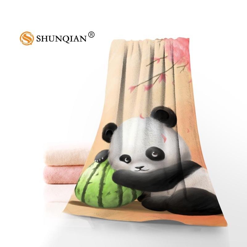 Nuevo encargo Panda impreso algodón cara/toallas de baño de microfibra tela para niños hombres mujeres ducha toallas