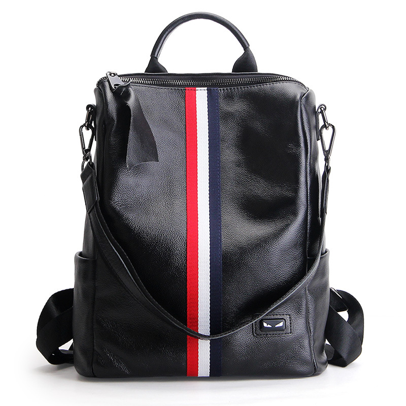 2017 Hot Fashion Women Genuine Leather Backpack Shoulder Bag Cow Leather Backpack Laptop Bag Women Multifunctional Backpacks 2016 fashion women s genuine leather backpack backbag hot selling woven genuine leather
