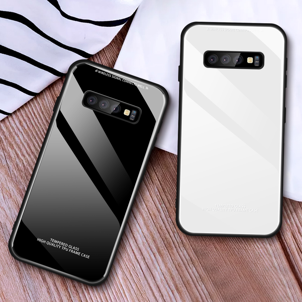 Tempered <font><b>Glass</b></font> Phone Case For <font><b>Samsung</b></font> <font><b>A7</b></font> A750 2018 S8 S9 S10 Plus S7 Edge <font><b>Back</b></font> Shell For <font><b>Samsung</b></font> A30 A40 A60 A6 A8 A9 2018 <font><b>Cover</b></font> image