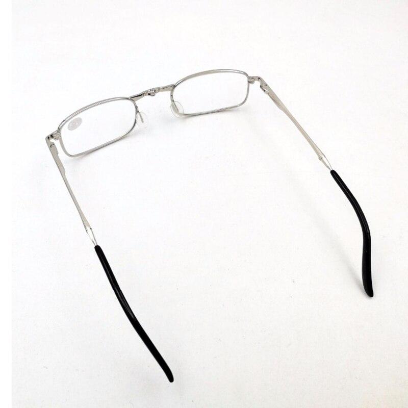 De Prata de alta Qualidade Portátil Dobrável Óculos de Leitura Com Caso  Unisex Liga Revestidos Lente Dobrável Óculos Mulheres Óculos A1 em Óculos  de leitura ... 60a5e6b49e