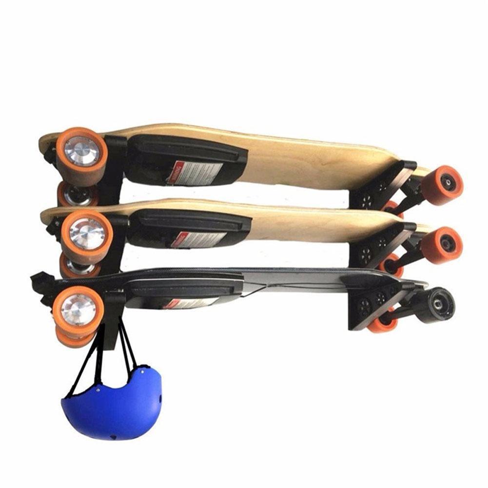 2 Pz Skateboard Montaggio A Parete Del Gancio Rack Di Stoccaggio Home Organizer Umbrella Holder Nuovo Qualità E Quantità Assicurate