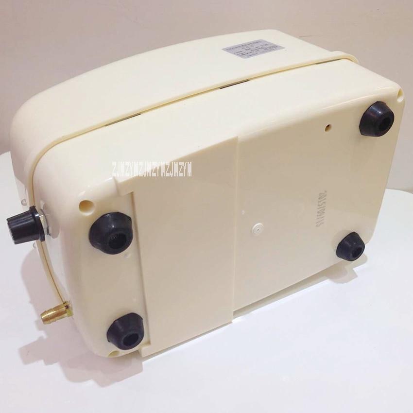 S-50B 55L/min Powerful AC/DC Aquarium Air Pump 220V Fish Tank Oxygen Pump Portable Ultra Silent Mini Air Compressor 8 Divider
