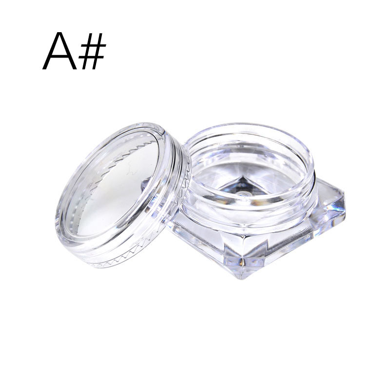 Nail Cosmetic EyeShadow Tavel Special Packing Box Transparent Small Round Square Box Multifunctional Portable Dispensing Bottles