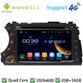 5.1.1 Quad Core 1024*600 Android Reproductor de DVD Del Coche Radio 3G/4G WIFI GPS Para SsangYong Kyron Actyon Korando Deportes 2005-2013