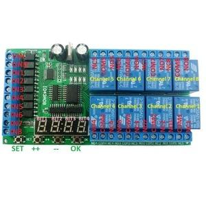 Image 4 - Módulo de retardo multifunción de 8ch DC 12V, temporizador de ciclo, interruptor para secuenciador de potencia, LED, torno PLC de Motor