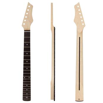 цена на Kmise Electric Guitar Neck Canada Maple 22 Frets HPL Fingerboard Bolt on C Shape with Back Inlay Clear Satin
