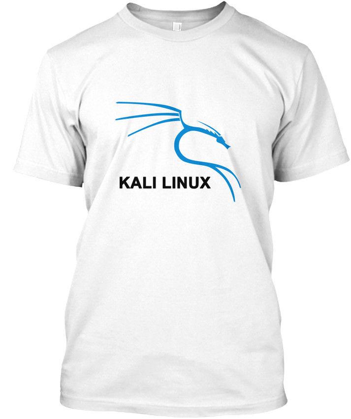 Kali Linux Tees White - popular Tagless Tee T-Shirt