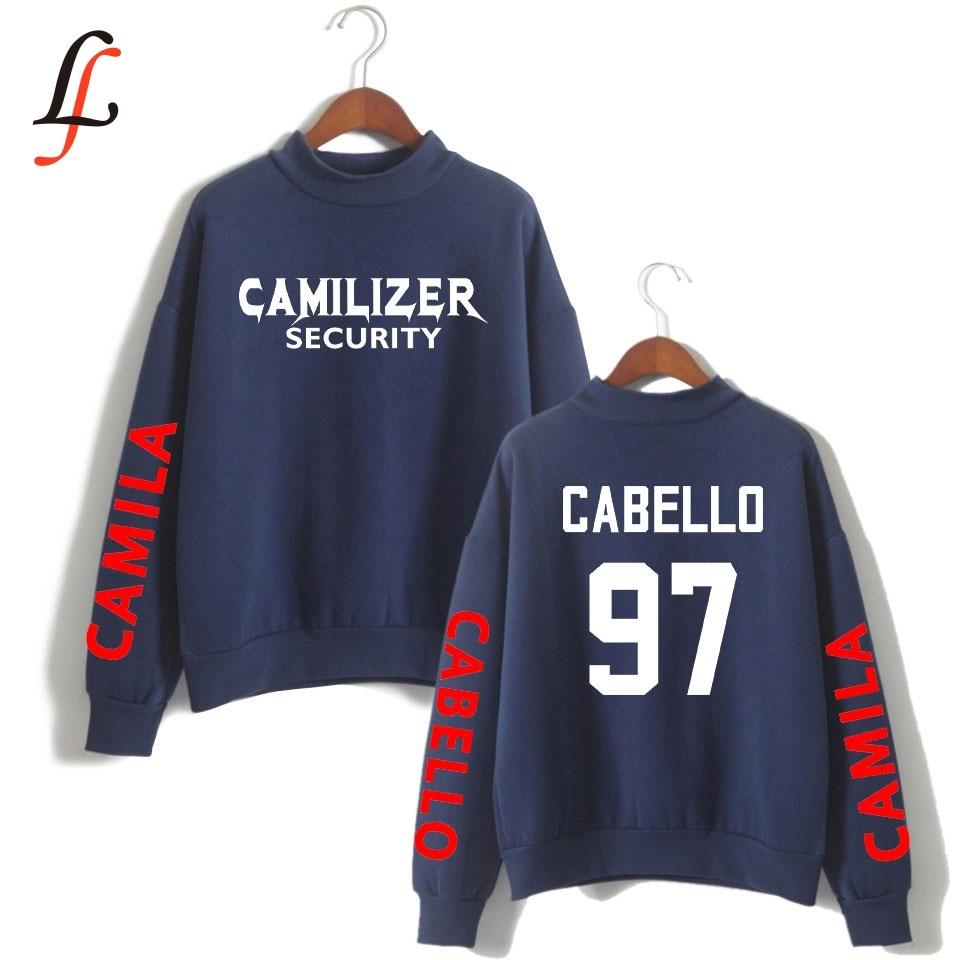 Camila Cabello print Turtleneck Hoodies Sweatshirts Kpop Women Never be the same tour Hip-Hop Bangtan Boys streetwear Clothes bts v warriors jacket