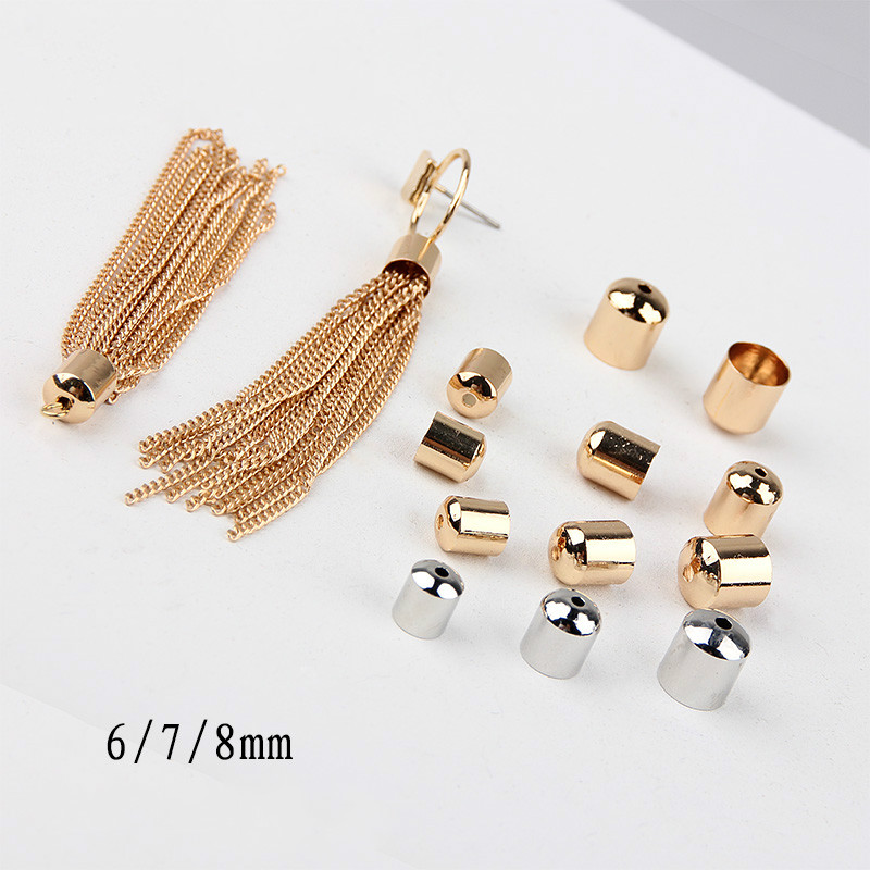 Beads & Jewelry Making Diy Handmade Sweater Necklace Ear Jewelry Closure Cap Material Accessories Leather Rope Lifting Cap Tassel Cap Cover 2 Mm Jewelry & Accessories