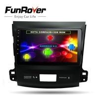 Funrover 8 ядер 9 Android8.0 dvd радио gps navi мультимедиа для Mitsubishi Outlander 2006 2014 peugeot 4007 citroen C Crosser