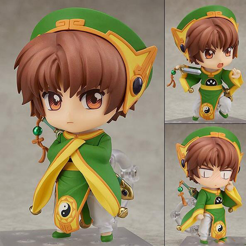 Cardcaptor Sakura Li Syaoran #763 action model anime figure Movable Nendoroid collection figurine toy peripheral boxed Y7536 nendoroid card captor sakura li syaoran 763 kinomoto sakura 400 pvc action figure collectible model toy doll