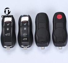 Yeni! 3/3 + 1/4/4 + 1 Düğmeler Akıllı Uzaktan Anahtar Kabuk için Porsche 911 Panamera Cayenne Araba anahtar Boşlukları Durumda