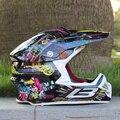 2016 fresco casco de la motocicleta ATV off-road de carreras de bicicleta de montaña casco DOT cascos de motocross con gafas de regalo