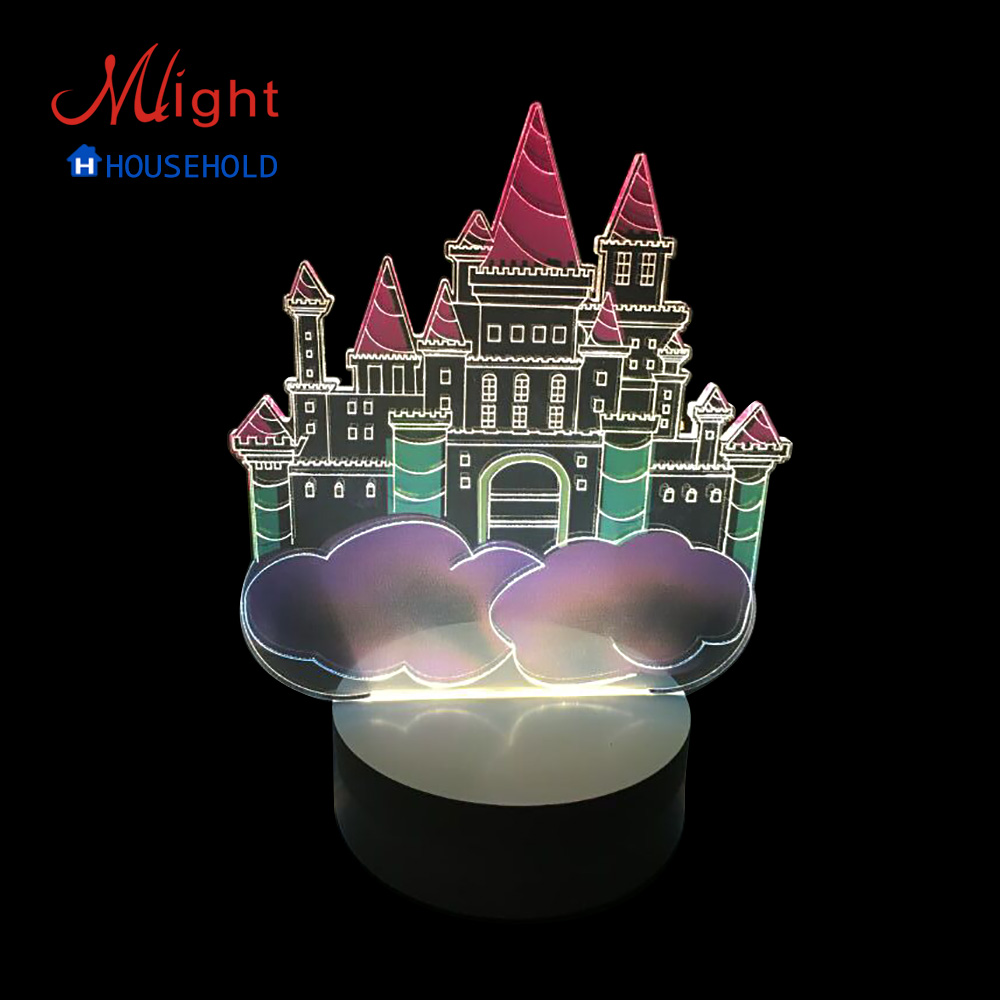 Night Light Fixtures: 3D Bedside Lamp LED Small Night Light For Children -in