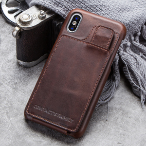 Image 5 - עבור iPhone X נרתיק עור מגנטי Flip ארנק מקרה עבור iPhone X אמיתי עור כיסוי Coque Fundas כרטיס חריץ הגנה כיסוי