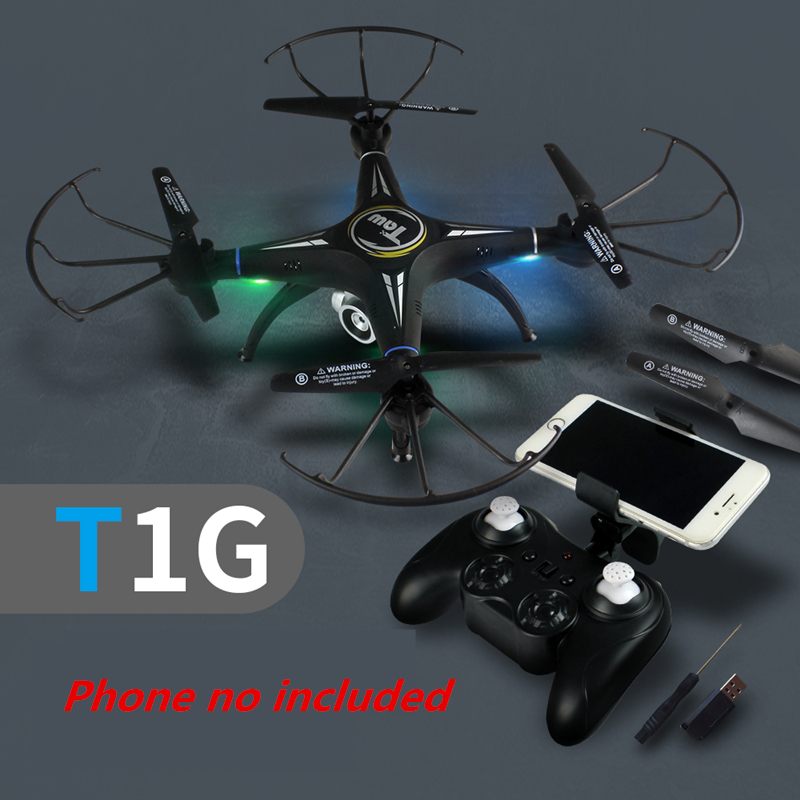 Quadrocopter with Camera RC Drone with Camera or No Camera T1G FPV Quadcopter Altitude Hold Dron RC Helicopter VS X5SW SG600