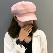 HT2538 Women Hats Solid Plain Octagonal Newsboy Cap Vintage Retro Artist Painter Beret Ladies for