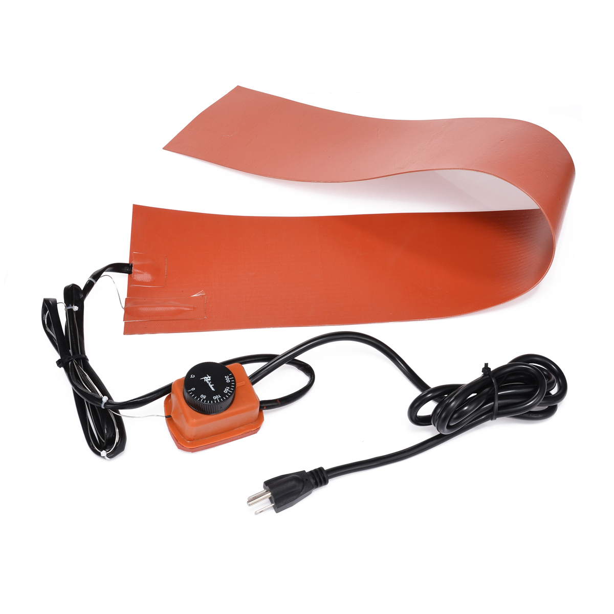 36*5.9 1200W 220V Silicone Rubber Heating Blanket w/ Temp Controller for Guitar Side Bending Silicone Heating Pad dia 500mm 1200w 220v w 3m psa