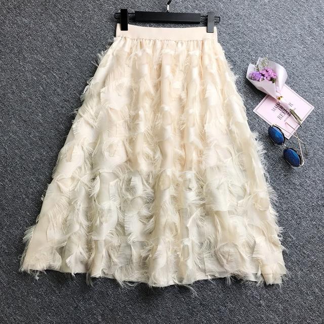 2019 Summer trend Tassel high waist slim skirt personality Fashion Female life popular New Arrivals ZYFPGS Brand