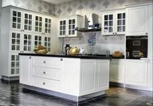 PVC/vinyl kitchen cabinet(LH-PV052)