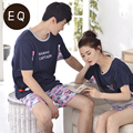 Summer And Autumn 100% Cotton Short-sleeve Boy Or Girl Shorts Leisure Sleepwear Lounge Set