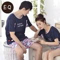 Summer And Autumn 100% Cotton Short-sleeve Boy Or Girl Shorts Leisure Sleepwear Lounge Set
