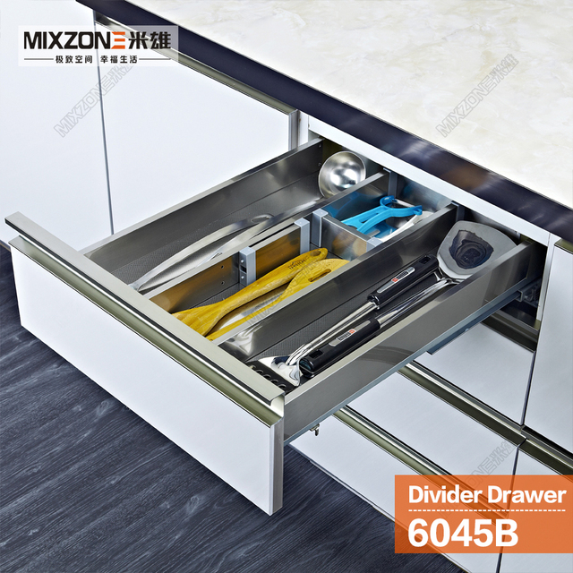 Kitchen Cabinet Cutlery Tray Utensil Divider Basket Drawer Organizer
