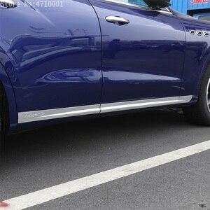 Image 3 - רכב סטיילינג ABS Chrome רכב גוף צד דלת קישוט רצועות לקצץ עבור מזראטי Levante 2016 מדבקות אביזרים חיצוניים 6pcs