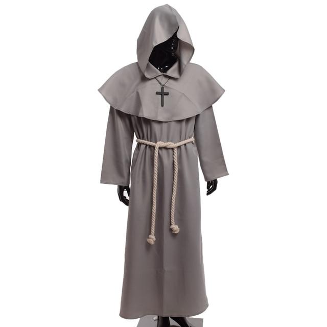 Traje medieval de los hombres traje de fraile monje de la capucha del  vintage cowl de 444f2633f