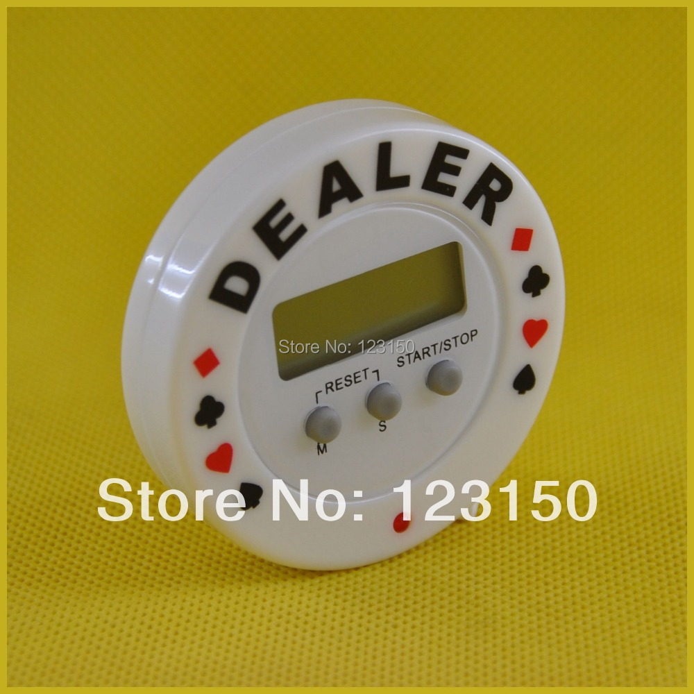 TA-004 30g high quality with countdown timer Texas Hold Em Poker Dealer Chip 4pcs/lot Free Shipping