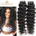 King Hair Products Бразильские Глубокая Волна Девственные Волосы 3 Шт. 7А Необработанные Бразильский Глубокая Волна Девы Человеческих Волос Соткет 12-30 дюймовый