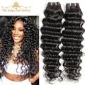 King hair products onda profunda brasileña virgin hair 3 unids 7A Sin Procesar de la Onda Profunda Brasileña Virginal Del Pelo Humano Teje 12-30 pulgadas