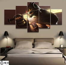 Wall Art Game Poster 5 Pieces DOTA 2 Printed Canvas Painting Pictures Modern On Decoration