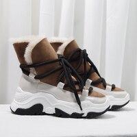 Женская обувь, ботильоны на шнуровке, женские полусапожки на резиновой танкетке, зимние ботинки с круглым носком, женская повседневная обув