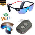 Free Shipping!Wifi HD 1080P F62 Sport Sunglasses Handfree camera Video Recorder Remote Control