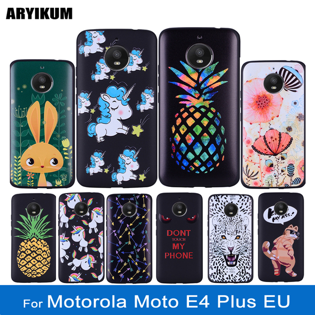 finest selection 2ed34 64b36 Aliexpress.com : Buy ARYIKUM Case For Motorola Moto E4 Plus EU xt1771 For  Moto E4 Plus E 4 Plus 3D Silicone Case Back Cover For Lenovo Moto E4 Plus  ...