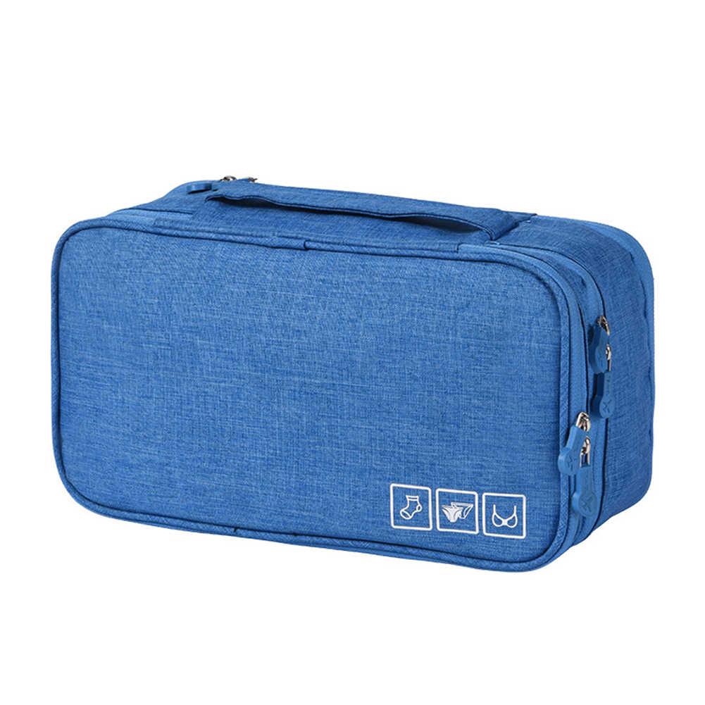 المحمولة سعة كبيرة سفر الأعمال الصدرية الملابس الداخلية المنظم حقيبة التخزين تراثية