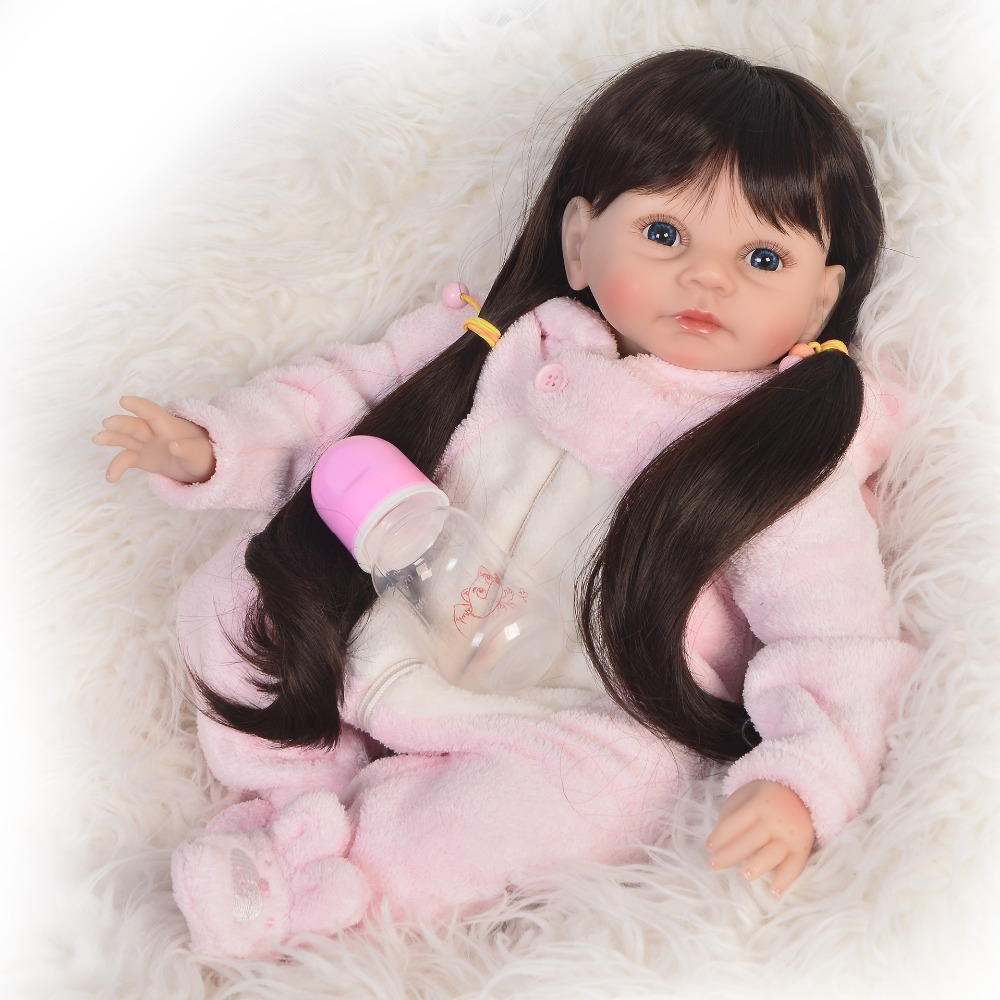 KEIUMI 22'' Inch Reborn Dolls DIY Toy For Girl Playmates Realistic Soft Silicone Vinyl Reborn Baby Dolls Newborn bebe XMAS Gifts-in Dolls from Toys & Hobbies    2