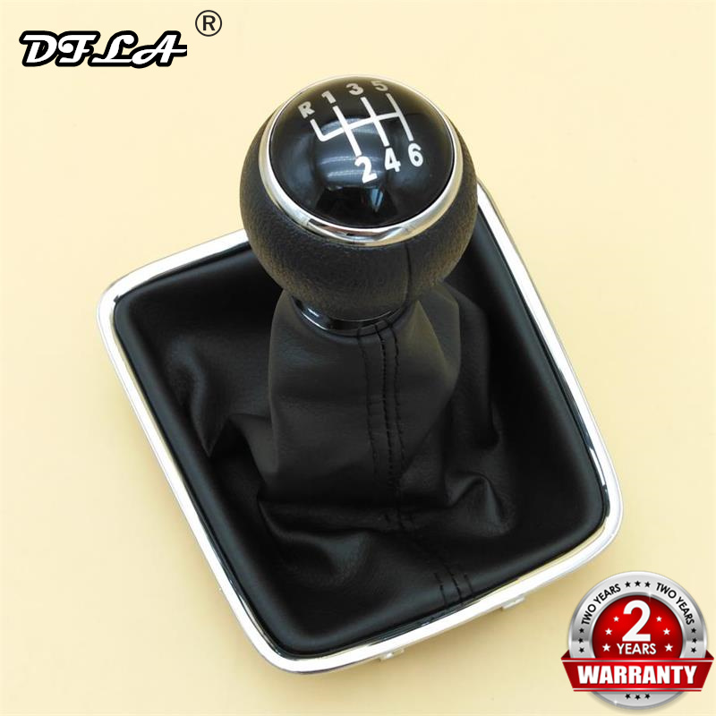DFLA For VW Sharan 2011 2012 2013 2014 2015 2016 Car-Styling New 6 Speed Car Gear Stick Shift Knob With Leather Boot