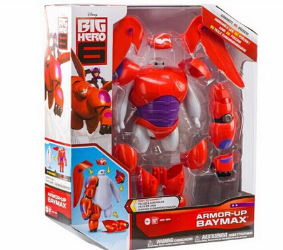 Image 4 - 6 Inch/16CM Big Hero 6 Baymax Robot Action Figure Cartoon Movie Baymax  Removable Armor 2015 New Holiday Gift Kids toys-in Action & Toy Figures from Toys & Hobbies