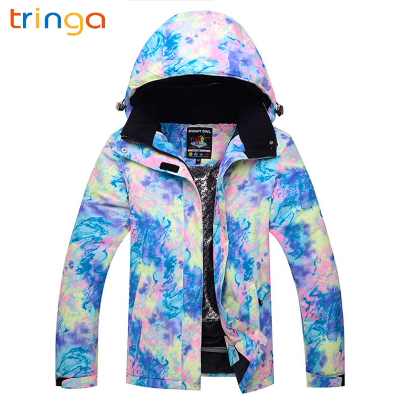 TRINGA New Ski Suit Women Brands Waterproof Windproof Ski Jacket and Trousers Thicken Warm Clothes  Skiing Snowboarding coatsTRINGA New Ski Suit Women Brands Waterproof Windproof Ski Jacket and Trousers Thicken Warm Clothes  Skiing Snowboarding coats