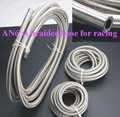 HT Racing Store 10Meters --AN6 Double braided Stainless steel  fuel hose line AN6(ID:8MM,OD:13MM)